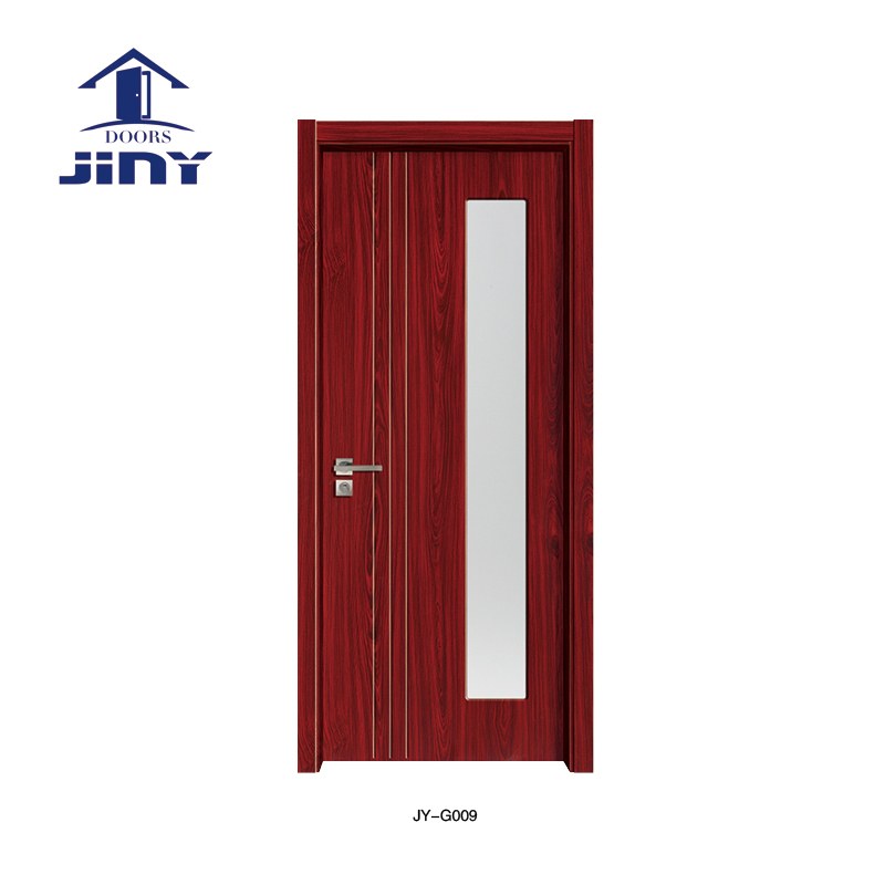 Transparent Glass Wood Door